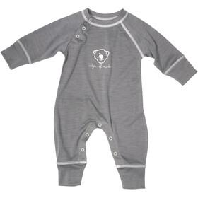 Isbjörn Husky Jumpsuit Baselayer Spädbarn glacier grey